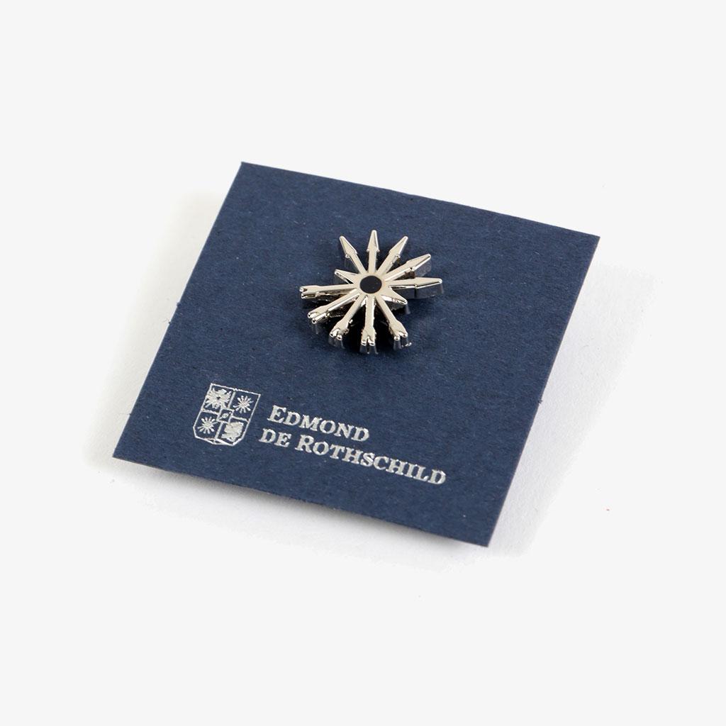 Enameled Pin Edmond De Rothschild Ame