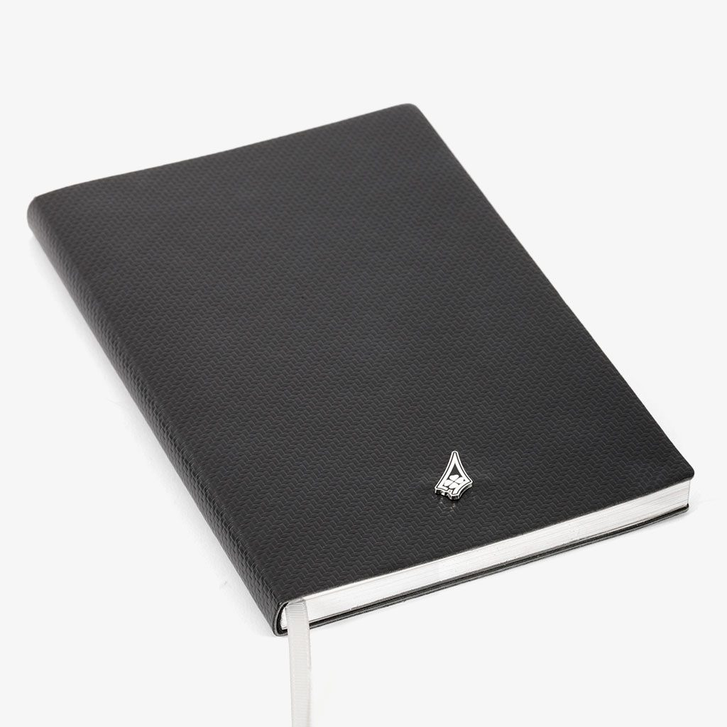 Smooth Cover Metal Logo Notebook — Dassault Aviation
