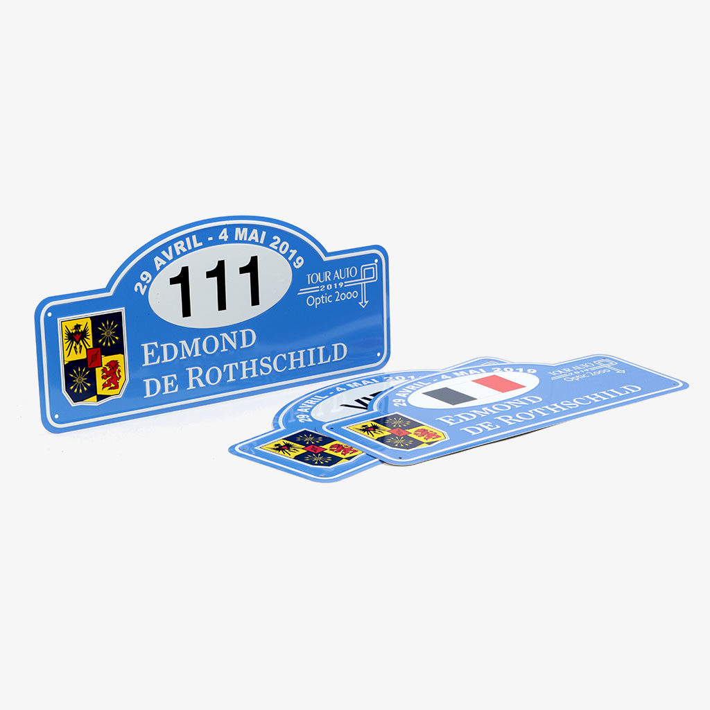 Car Plates — Edmond de Rothschild