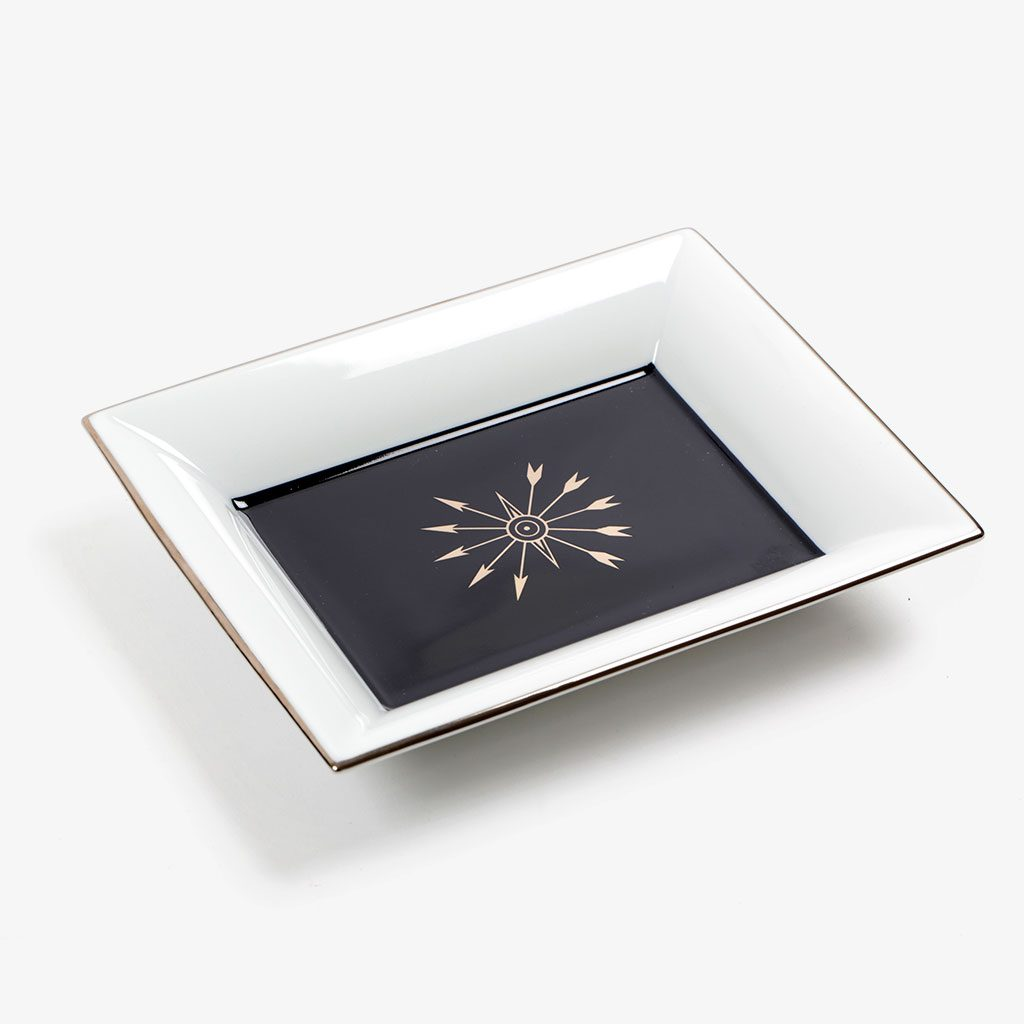 Rectangular Tidy Tray in Platinum & Enamel — Edmond de Rothschild