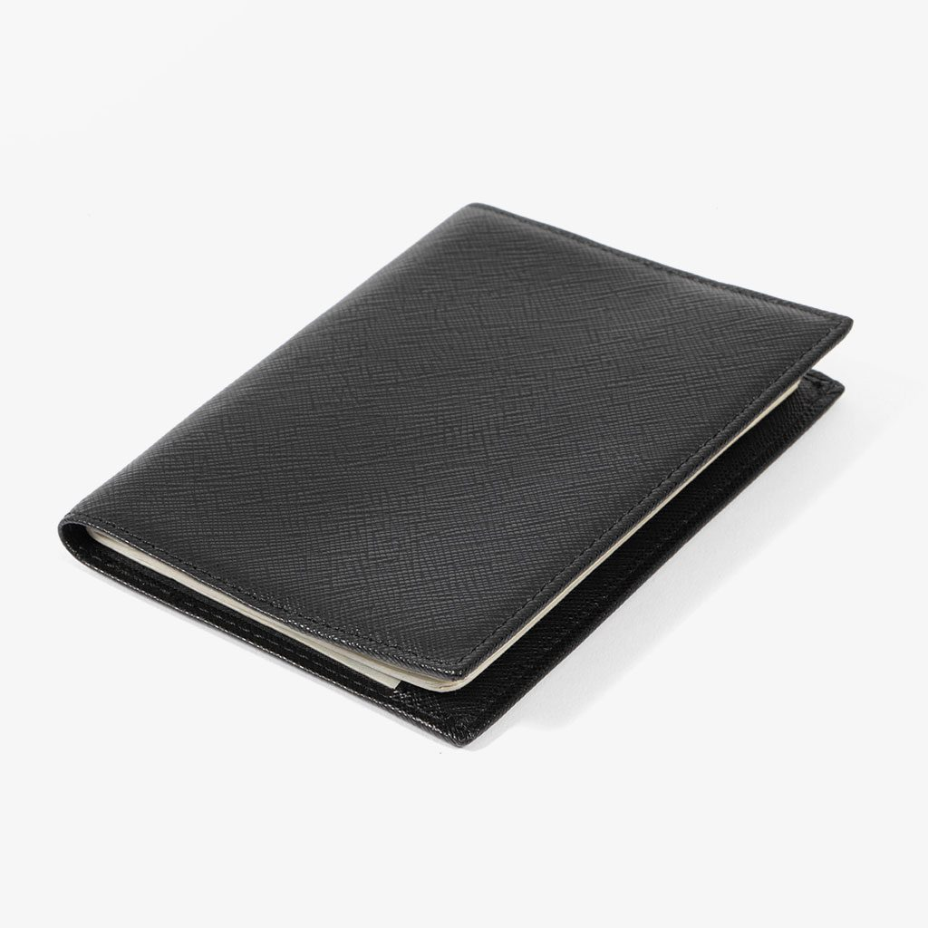 Pebbled Leather Passport Cover — Bell & Ross