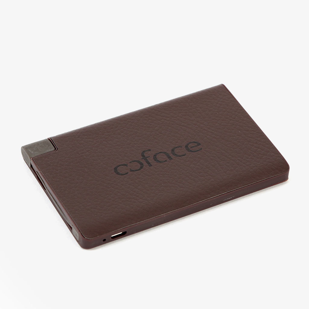 Extra Slim Leather Power Bank — Coface